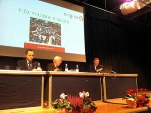 Ilenio Bastoni e Alberto Garbuglia a Interpera. In mezzo Luciano Trentini