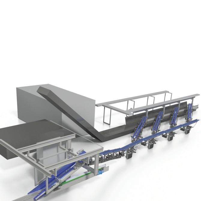 Harvest Automation – Hortiplan, Paesi Bassi. Impianto per la raccolta automatica di insalate verdi