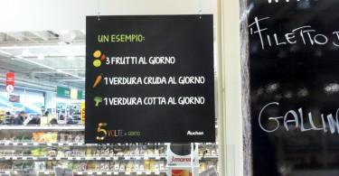Auchan Cesano Boscone (MI) -  Comunicazione reparto ortofrutta
