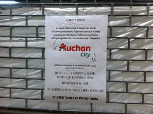 Auchan Cesano Boscone (MI) - Chiusura del piano superiore