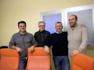 Nella foto, da sinistra: Bruno Francescon (Vicepresidente del Consorzio), Mauro Aguzzi (Presidente del Consorzio), Ettore Cagna (Presidente della Op Don Camillo)
