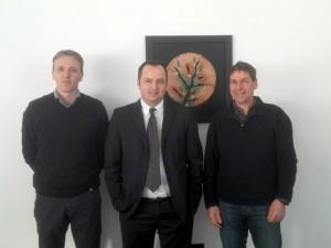 Da sinistra: Dietmar Franzelin, Direttore Bio Meran, Ilenio Bastoni, Direttore Generale Apofruit, Klotz Georg, Presidente Bio Meran