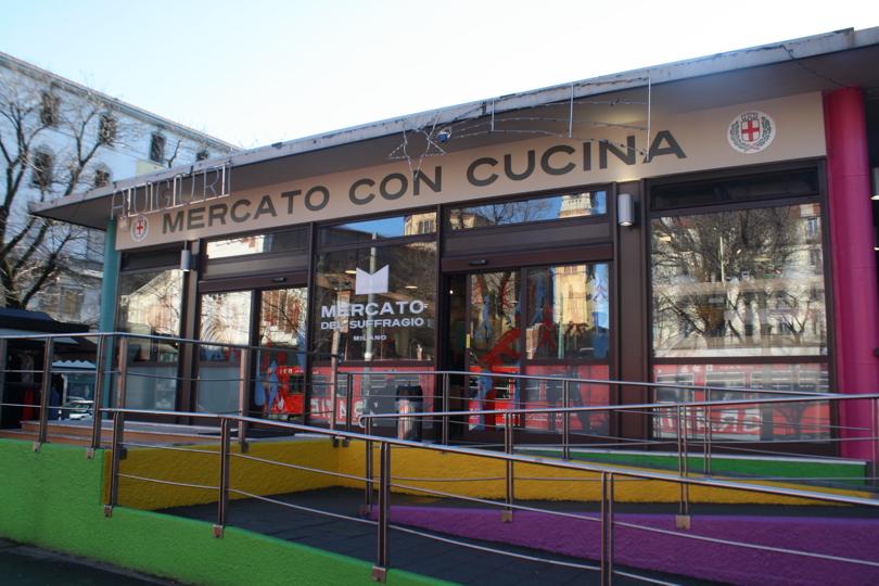 Ingresso del nuovo Mercato con Cucina a Milano, Piazza Santa Maria del Suffragio