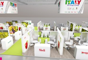 Lo stand Italy organizzato dal CSO di Ferrara, Fruitimprese e Italia Ortofrutta a Fruit Logistica 2016 sarà il più grande di sempre