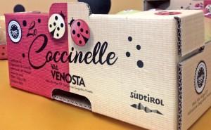 Le Coccinelle. Nuova linea di packaging di Mela Val Venosta