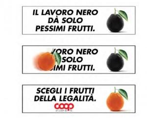 """Esempi campagne banner della Campagna """"Buoni e Giusti Coop"""""""