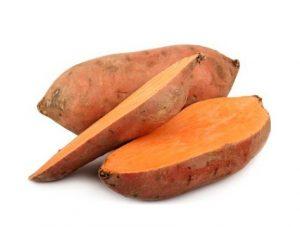 Patate dolci rosse a pasta arancione