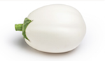La melanzana varietà bianca è particolarmente apprezzata dal canale ho.re.ca