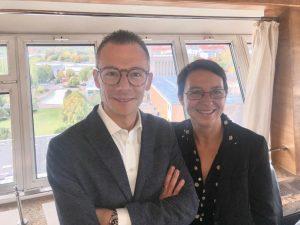 Da sinistra: Fabio Zanesco (VIP) e Rita Biserni (Alegra)