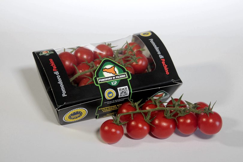 Packaging compostabile Pomodoro di Pachino IGP