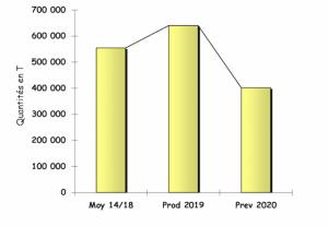 Albicocche, evoluzione della produzione in Europa