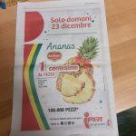 Ci risiamo: Iper svende l'ananas sotto un centesimo il chilo